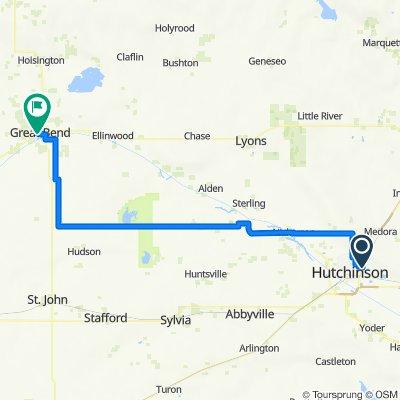 M Hutchinson KS to Great Bend KS