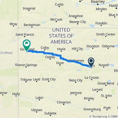 O Hayes KS to Goodland KS
