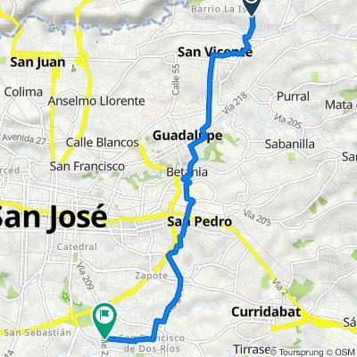 De Calle 81, San Vicente a 209, San Francisco de Dos Rios