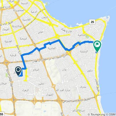 Ali Hussain Al Asousi Street, Kuwait City to Al-Ta'awen Street
