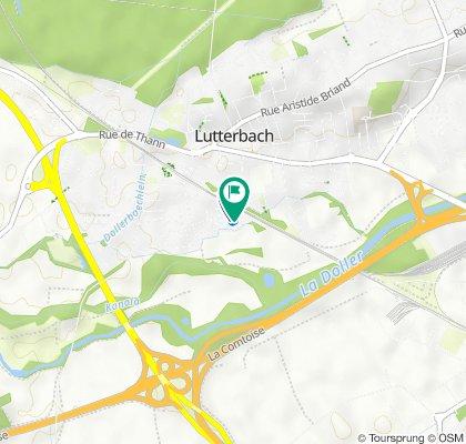 De 16 Dollfus Mieg Matten, Lutterbach à 18 Rue du Champ des Oiseaux, Lutterbach