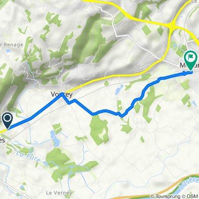De 44 Route de Grenoble, Tullins à Rue Roger du Marais, Moirans