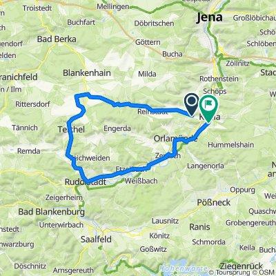 Kahla - Reinstädter Grund - Rudolstadt - Kahla