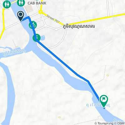 Route from Old Bridge, រុងកំពត
