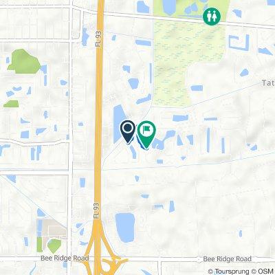 2424 Appaloosa Cir, Sarasota to 2434 Seattle Slew Dr, Sarasota