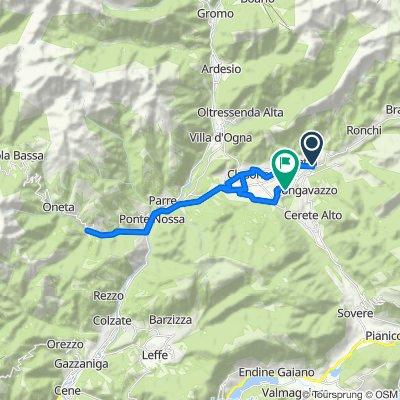 Da Via Domenico Poloni 4, Fino del Monte a Via Beata Capitanio 19, San Lorenzo di Rovetta