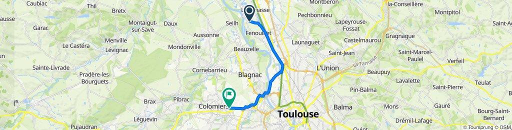 De 30 Rue de la Gravette, Gagnac-sur-Garonne à 2B Boulevard Marcel Dassault, Colomiers
