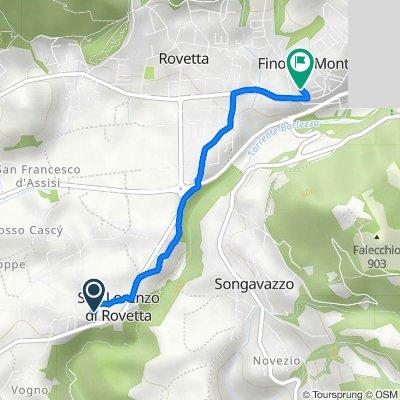 Da Via Don Francesco Tomasoni 25, San Lorenzo di Rovetta a Via Domenico Poloni 2, Fino del Monte