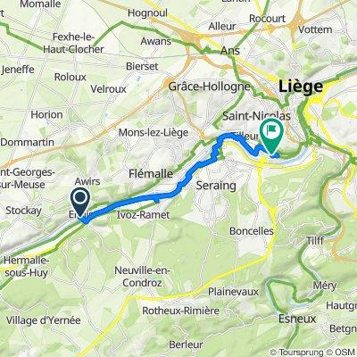 De Quai Léopold Herten 8, Engis à Rue de l'Avouerie 50–64, Liège