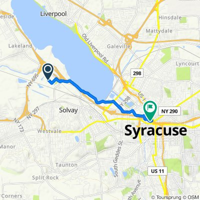 581 State Fair Blvd, Syracuse to 123 E Willow St, Syracuse