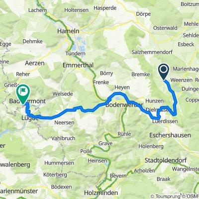 Marienwalder Straße 5, Salzhemmendorf nach Winzenbergstraße 34, Bad Pyrmont