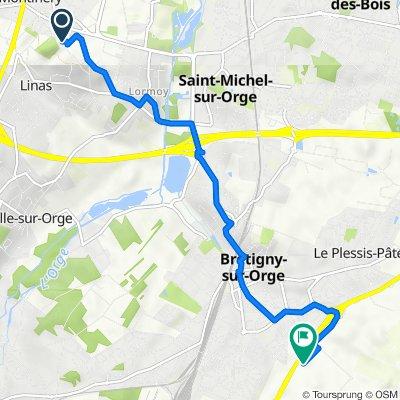 De Chemin de la Motte 11, Montlhéry à Centre Essais en Vol 2, Brétigny-sur-Orge