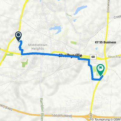 468 Midland Blvd, Shelbyville to 520 Mount Eden Rd, Shelbyville