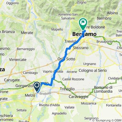 Da Via Deledda 3, Pozzuolo Martesana a Via San Lorenzo 30b, Bergamo