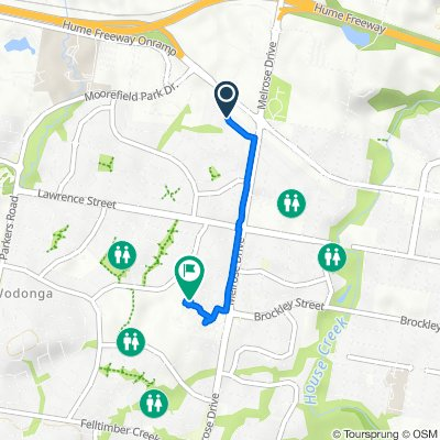 30 Roadshow Drive, West Wodonga to 2 Simmons Court, West Wodonga