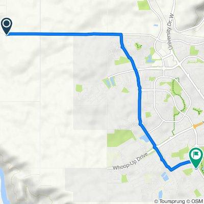 Township Rd 90, Lethbridge County to 290 McMaster Blvd W, Lethbridge