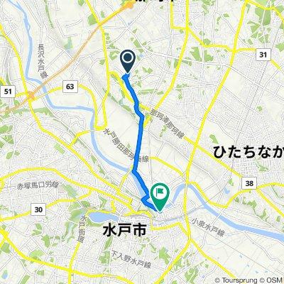 1491−1, 那珂市 to 1丁目 10, 水戸市