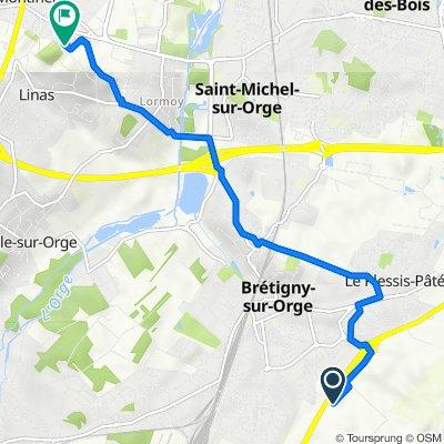 De Centre Essais en Vol 2, Brétigny-sur-Orge à Chemin de la Motte 11, Montlhéry
