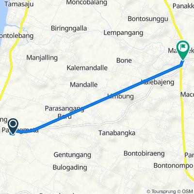 Jalan Jempang, Galesong to Jalan Sungguminasa - Takalar, Kecamatan Bajeng