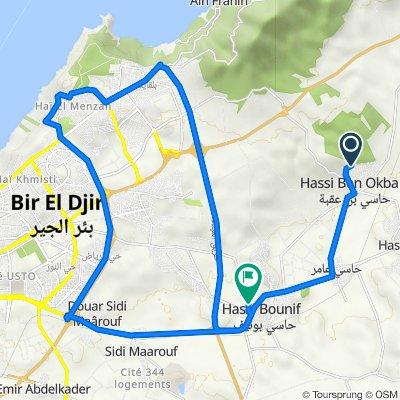 De Unnamed Road, Hassi Ben Okba à W74, Hassi Bounif