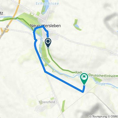 Radelsberg 21, Nienburg (Saale) nach Unnamed Road, Bernburg (Saale)