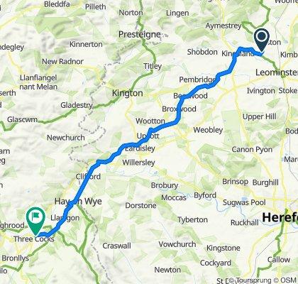 Route to 1 Lochnivar, Nant-y-Felin, Brecon