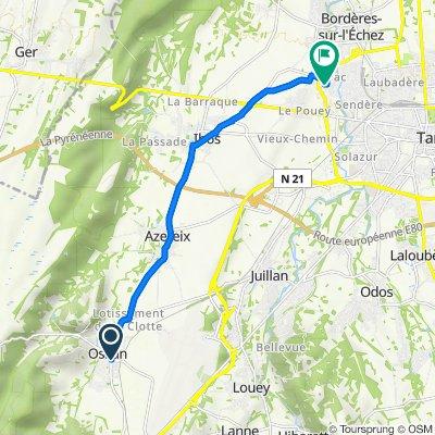 De 4 Route de Lourdes, Ossun à 4 Rue de l'Adour, Ibos