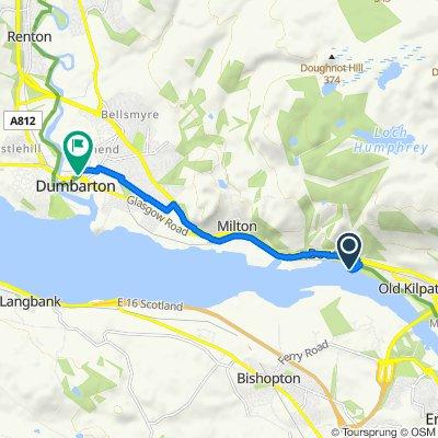 Route to 1–99 College St, Dumbarton