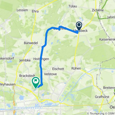 Ahnebecker Straße 4, Parsau nach Matthias-Grünewald-Straße 6, Wolfsburg
