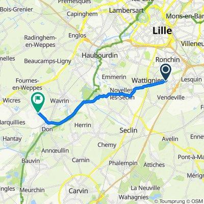 De 6 Rue Édouard Vaillant, Faches-Thumesnil à 14 Rue Jules Guesde, Sainghin-en-Weppes