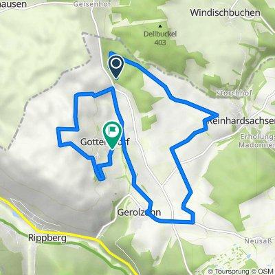 L518, Walldürn nach Hainbergweg 1, Walldürn