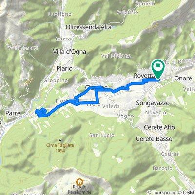 Da Via Domenico Poloni 2, Fino del Monte a Via Domenico Poloni 2, Fino del Monte