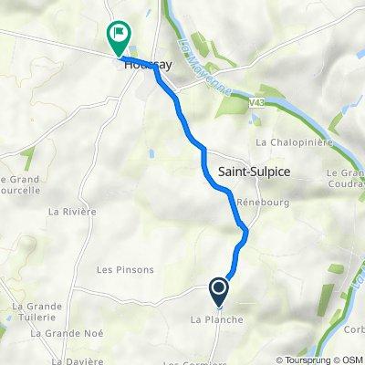 De D112, Saint-Sulpice à 25 Rue de La Valette, Houssay
