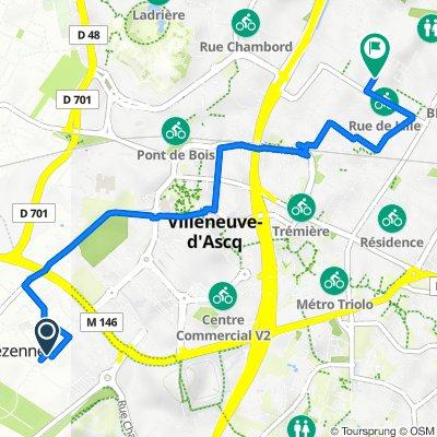 De 44 Rue Henri Barbusse, Lezennes à 10 Rue du Petit Boulevard, Villeneuve-d'Ascq