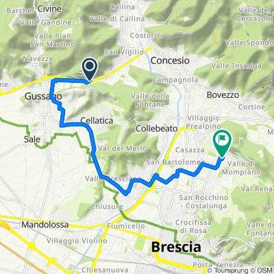 Da Via Rizzardi Luigi 119, Concesio a Via Bagna Franco Filippo 9, Brescia