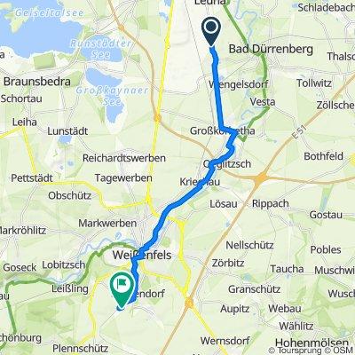 Straße Zur Linde, Leuna nach Bergstraße 39, Weißenfels