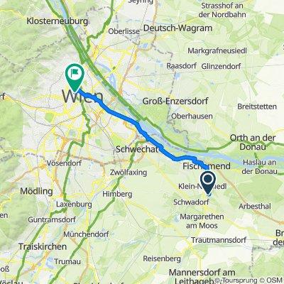 Franz-Binder-Gasse 7, Karlsdorf nach Reichsratsstraße 11–13, Wien