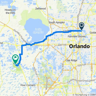 Route from 701 Lake Lily Dr, Maitland