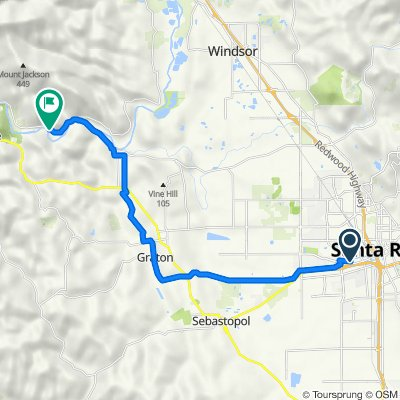 1500–1518 W Third St, Santa Rosa to 11820 River Rd, Forestville