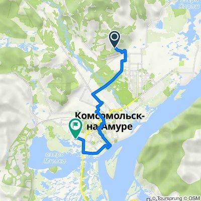 От Водонасосная Улица, 3, Комсомольск-на-Амуре до улица Гамарника, 35, Комсомольск-на-Амуре