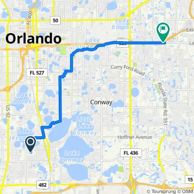 420 W Oak Ridge Rd, Orlando to 7335 Lake Underhill Rd, Orlando