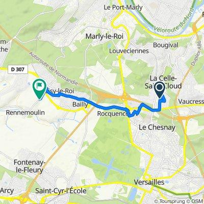 De Hameau de Bois-Fontaine, La Celle-Saint-Cloud à 2 Rue de Rennemoulin, Noisy-le-Roi