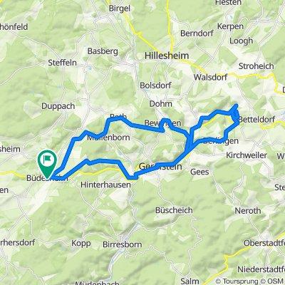 Büdesheim - Martinshöhle (Taschenlampe) - Büdesheim_43 km
