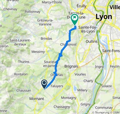 549 Route de Ravel, St.-Laurent-d'Agny to 26 Rue de la Mairie, Francheville