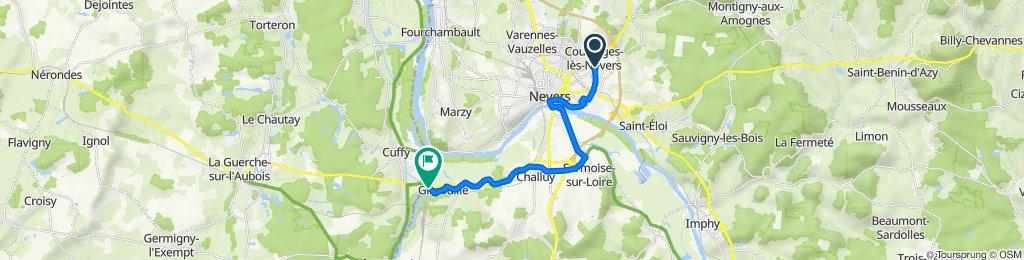 Itinéraire à partir de 24 Rue Georges Dufaud, Nevers