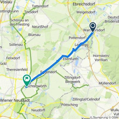 Obere Hauptstraße 31, Wampersdorf nach Ebenfurther Gasse 9c, Wiener Neustadt