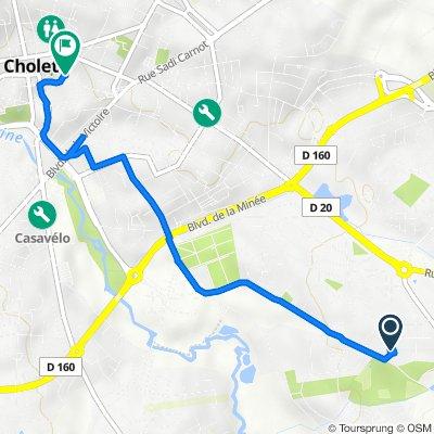 41 Avenue du Parc, Cholet to 60 Rue Saint-Pierre, Cholet