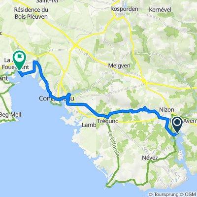 Kerscaff- Port la Forêt 26km