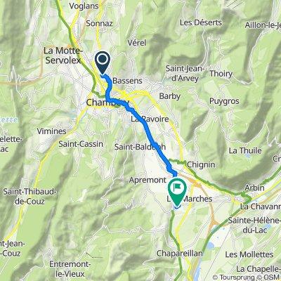 De 63 Allée des Châtaigniers, Chambéry à 100 Chemin du Lac, Les Marches
