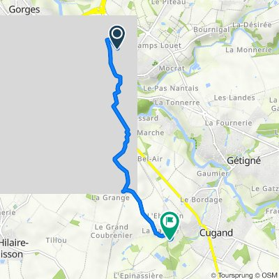 De 15 Avenue du Fief des Pommiers, Clisson à 72 Rue des Coteaux de la Palaire, Cugand